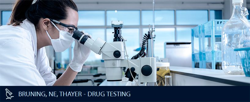 BRUNING NE THAYER DRUG TESTING