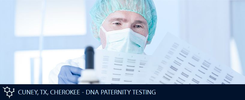 CUNEY TX CHEROKEE DNA PATERNITY TESTING